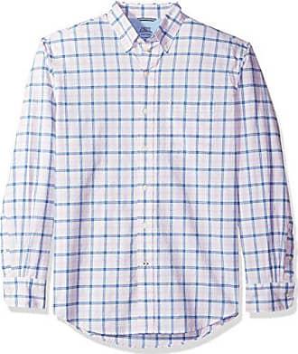 IZOD Mens Newport Long Sleeve Button Down Check Oxford Shirt