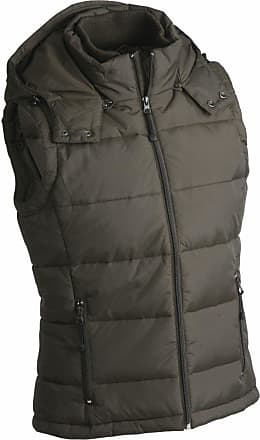James & Nicholson JN1004 Mens Puffer Quilted Water Resistant Gilet Natural Size L