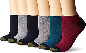 Gold Toe Womens Casual Ultra Soft No Show Socks, Teal/Charcoal/Raspberry/Midnight/Charcoal, Shoe Size: 6-9