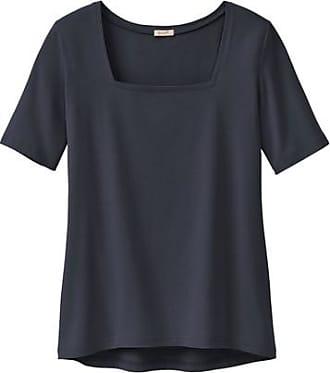 Enna T-Shirt mit Karree-Ausschnitt aus Bio-Baumwolle, schwarz