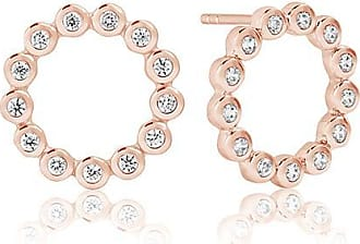 Sif Jakobs Jewellery Earrings Sardinien Circolo Piccolo - 18k rose gold plated with white zirconia