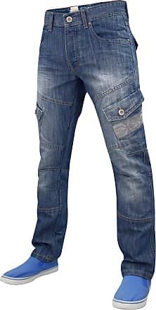 469f98cc1c7 Crosshatch Men Crosshatch Cargo Jeans Stone Wash 38W X 34L