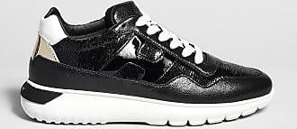 Reposi Calzature HOGAN Interactive³ - Sneakers in pelle nera e paillettes