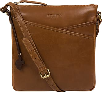 Pure Luxuries London Concka London Avril Womens 24cm Biodegradable Leather Cross Body Bag with Zip Over Top, 100% Cotton Lining and Adjustable Slimline Leather Strap in Da