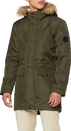 Only & Sons Mens Onsbasil Parka Jacket OTW Noos Coat, Green (Forest Night Forest Night), Medium
