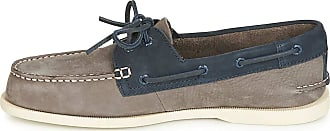 Sperry Top-Sider Sperry Ao 2-Eyelet Washable Mens Boat Shoes Grey Navy - 7 UK