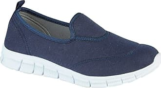 Urban Jacks Surf Womens Loafer Flats Shoes Trainers Pumps Navy (6 UK, Navy Blue)