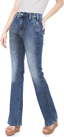 Triton Calça Jeans Triton Bootcut Estonada Azul