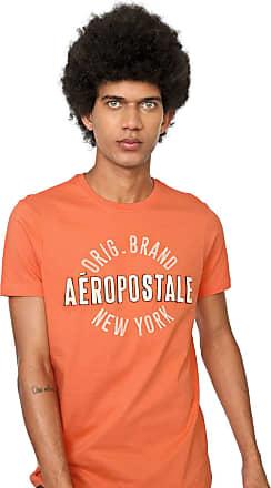 Aéropostale Camiseta Aeropostale Bordada Laranja
