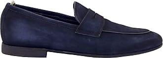 Officine Creative Fashion Man BYRON001BLUE Blue Suede Loafers | Spring Summer 20