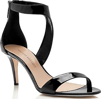 Tamara Mellon Prowess Black Patent Sandals, Size - 35.5