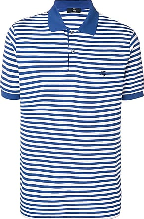 Fay striped polo shirt - Blue