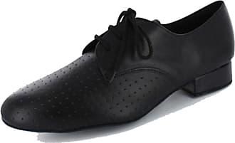 MGM-Joymod Mens Stylish Lace-up Closed Toe Leather Social Dacne Salsa Tango Jazz Rumba Ballroom Latin Modern Dance Shoes (Black Breather) 12 M UK