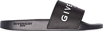 Givenchy Slide com logo contrastante - Preto