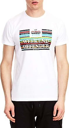 Weekend Offender Spines T Shirt, White, XL