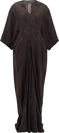 Rick Owens Larry Wide-sleeve V-neck Taffeta Dress - Womens - Black