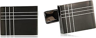 Stacy Adams Stacy Adams Mens Rectangle Cuff Link with 3 Rhinestones, Gold, One Size
