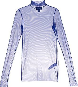 We11done Blusa translúcida - Azul