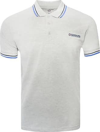 1650 Lambretta Mens Khaki Logo Target Short Sleeve Polo Pique Tee T-Shirts