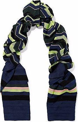 M Missoni M Missoni Woman Crochet-knit Wool-blend Scarf Green Size
