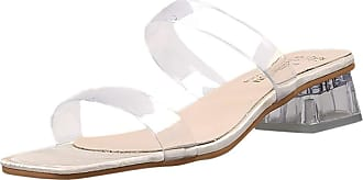 Yvelands Womens Casual Slipper Sandals Mid Low Block Heel Open Toe PVC Transparent Summer Sandals for Women Flip Flops Beach Walking Shoes Beige