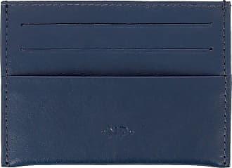 Nuvola Pelle Porta Carte di Credito Uomo Donna Sottile Tascabile in morbida Pelle Nappa con 6 tasche porta tessere Blu
