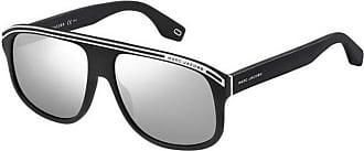 Marc Jacobs MARC 388/S 003 Matte Black MARC 388/S Square Sunglasses Lens Category 3 Lens Mirrored Size 58mm