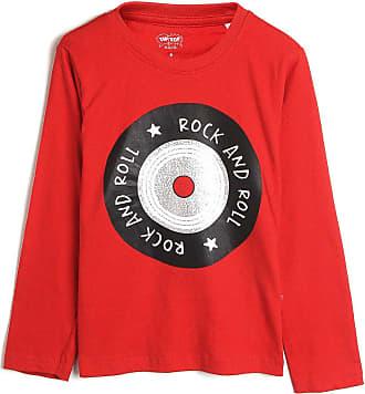 Tip Top Camiseta Tip Top Infantil Lettering Vermelho