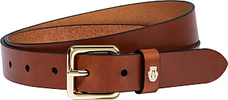 Roeckl Cowhide Leather Belt - cognac - 100