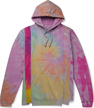 Needles Oversized Tie-dyed Fleece-back Cotton-jersey Hoodie - Purple
