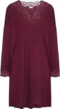 223b72302d Hanro Hanro Woman Uptown Lace-trimmed Jersey Nightdress Plum Size XS