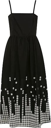 Pop Up Store Vestido midi com bordado - Preto