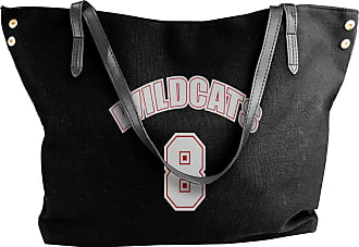 Juju Wildcats 8 Womens Classic Shoulder Portable Big Tote Handbag Work Canvas Bags