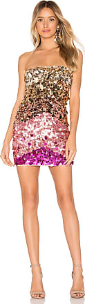 X by NBD Taleah Embellished Mini Dress in Metallic Gold