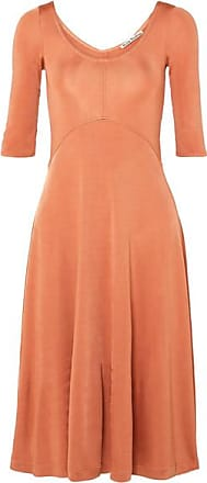Acne Studios Delana Metallic Stretch-jersey Dress - Peach