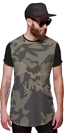Di Nuevo Camiseta Longline Swag Exército Camuflada Brasileira
