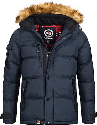 Geographical Norway Anapurna Mens Winter Jacket, Warm, Outdoor, Lined Biwa jacket, Size S - XXXL - Blue - L