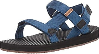 Freewaters Mens Supreem Sport Cage Sandal w/Universal Fit 4-Pt Strap-in Closure w/Arch Support, Cobalt Blue 7 Medium US