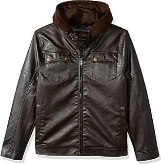Urban Republic Mens Faux Leather Jacket, Brown L
