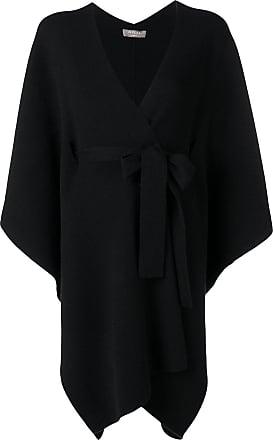 N.Peal belted blanket cape - Black