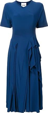 Koché Vestido com babados - Azul