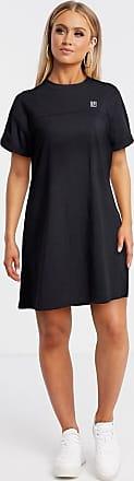 DKNY oversized logo detail t shirt dress in black