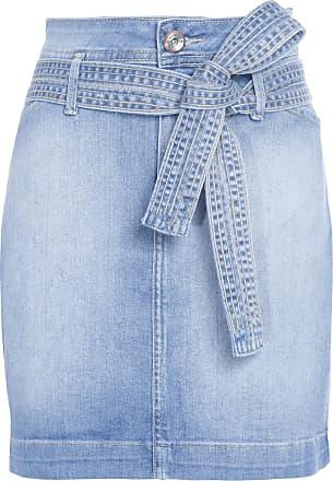 MOB Saia Jeans Com Cinto - Azul