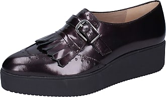 Unisa Women Leather Purple Loafers-Shoes 2.5 UK