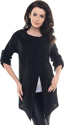 Purpless Maternity Pregnancy and Nursing Breastfeeding Cardigan Jumper Knitted Jacket 9001 (One Size (10-16), Black)