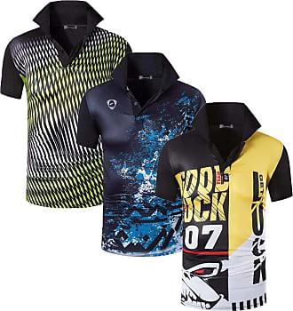 Jeansian Mens 3 Packs Sport Quick Dry Polo T-Shirt LSL268_269_276 Black M