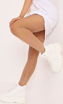 ccd4cadac I Saw It First Nude Multi Scattered Diamante Fishnet Tights - OS   BEIGE