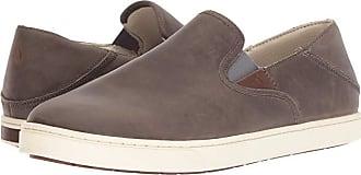 Olukai Kahu Ili (Charcoal/Bone) Mens Slip on Shoes