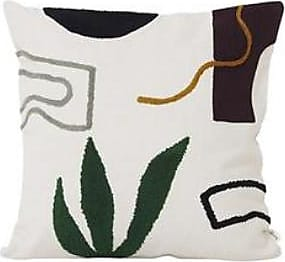 Ferm Living Cacti Mirage Cushion - White/Green/Brown