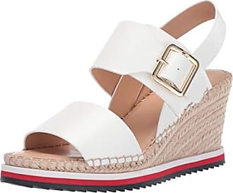66efd6c8 Tommy Hilfiger Womens YAZZI Espadrille Wedge Sandal White 7.5 M US
